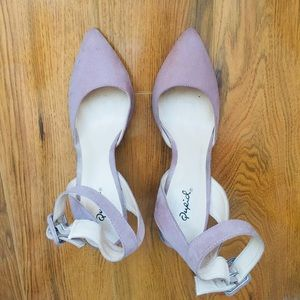 Qupid Pink High Heels with ankle strap -8.5